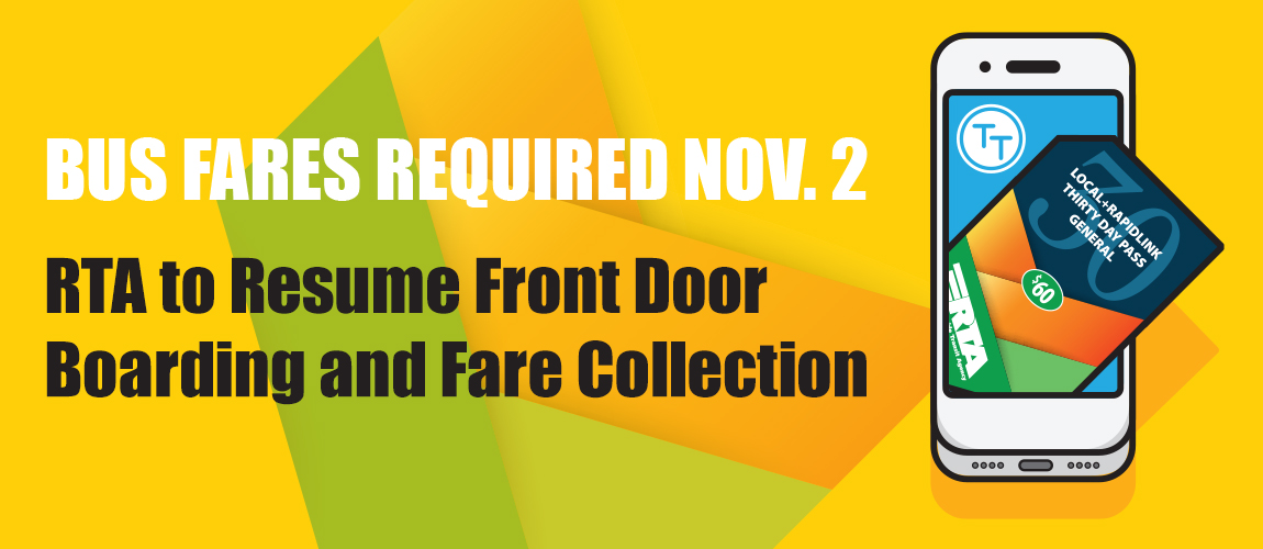 Front Door Boarding and Fare Collection Resumed on November 2