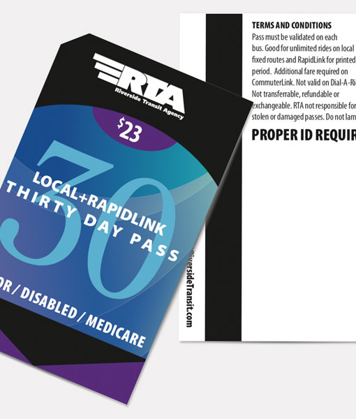 Senior/Disabled/Medicare 30 Day Pass | Local