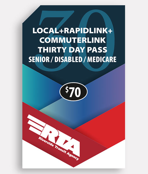 Senior/Disabled/Medicare 30 Day Pass | Commuter + Local